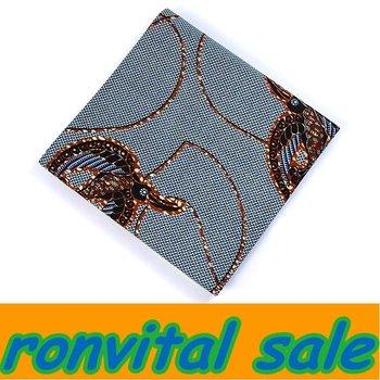 Block print stock african wax printing fabric church dress hollandais woodins golden 6yards/lot H161