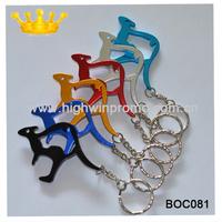 (500pcs/lot)Australian Kangaroo Keychain Bottle Opener ,Mixed colrs ,free customized logo& free shipping