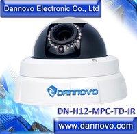 DANNOVO HD 2 Megapixel 1080P Onvif IP Camera Low Light Dome IR IP Vandalproof Dome Camera Outdoor,with IR Cut Filter,Audio