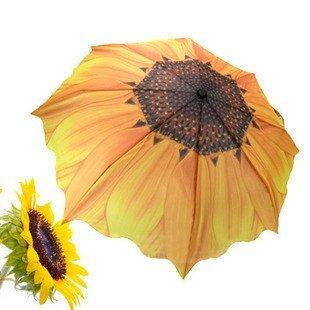 Retail High quality umbrella, UV umbrella, Sunflower 3 folding Umbrella Free shipping U3138