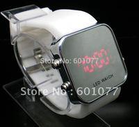 Wholesale digital men women wristwatches ladies fashion Led Silicone quartz watch Women dress watches men W556