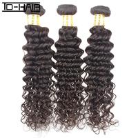 6A brazilian virgin hair extension deep curly color 1B 3pcs lot human hair weave brazilian deep wave on sale TD HAIR