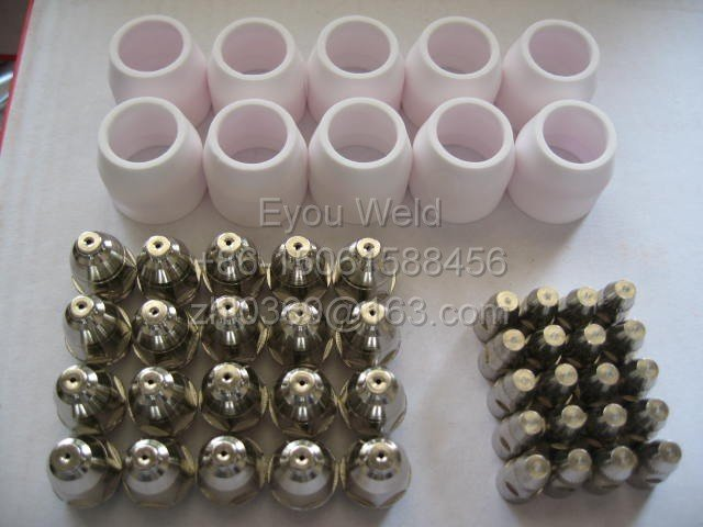 50pcs Air Plasma Cutter Cut Consumable For P80 WELDING MACHINE Consumables Tips&Electrodes&Shield Cups, FREE SHIP by CPAM(P-80)(China (Mainland))