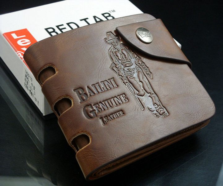 $ 4.68 / pcs Factory Direct New Fashion Men's Genuine Leather Wallet Vintage Denim Wallet Casual Style Free Shipping(China (Mainland))