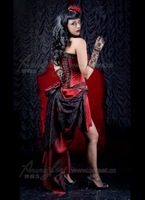 Sexy Black Lace Beaded Corset Cheap Red Prom Dresses 2014 Plus Size Dresses Under 200