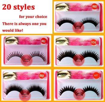 false eyelashes eye lash  eyelash extensions 31 styles mix styles acceptable 203387Wholesale(100pair/lot) Free shipping