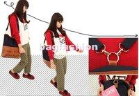 3 way holiday sale bag Canvas tote bag PU Leather bag Backpack Satchel bags Shoulder Korean Style Lady Girl 5124