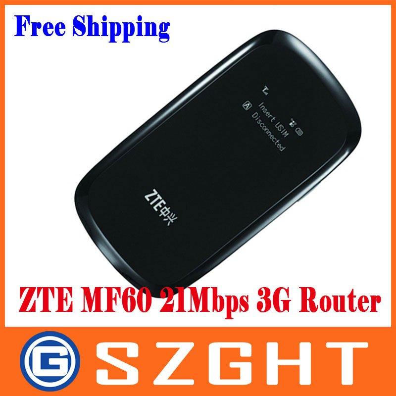 ZTE MF60 21.6M WCDMA 3Gwifi wireless 3G modem,wireless router for i pad,i Phone,laptop(China (Mainland))