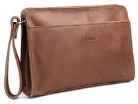 Designer clutch purses 2014 fashion brown genuine leather men women handbag clutch free shipping 4022