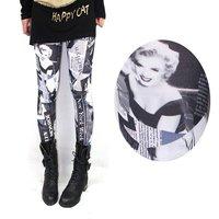 2014  fashion Europe/America sexy thin microfiber Marilyn Monroe women leggings/Capris/pants/jeans,mix wholesale