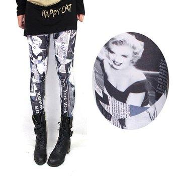 2015 spring fashion Europe America sexy thin microfiber Marilyn Monroe women leggings Capris pants jeans
