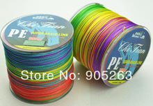 Free Shipping 1PCS 300M PE BRAID FISHING LINE VERTICAL JIGGING multicolour(China (Mainland))