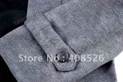 Men's Blazer leisure fashion Cool Slim Sexy Casual Blazer Suit Top Zip Dress Jacket black /grey M-XXL free shipping 3621(China (Mainland))