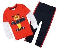 Boy's Long Sleeve Sports Tshirt Sets Toddler's 2 pcs 100% Cotton Tee Suit, 6 Sizes - JBLS80/JBLS86/JBLS87/JBLS88/JBLS93/JBLS98