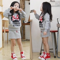2015 spring Girls clothes sets 2 pieces set, long-sleeve suit,1138