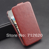 HOT Luxury Vintage Ultrathin PU Leather Case for iphone 4 4S Flip Mobile Phone Bag Cover for iPhone4 with Original FASHION Logo