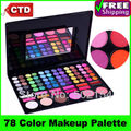 Free Shiping Cheap Beauty Product Series-- 3#P78 78 Color Eyeshadow / Cheek Blush /Pressed Powder/Lip Gloss Make Up Set