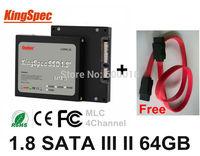 """Kingspec 1.8"""" Inch SATA II SATA III 3 SSD disk  Solid State Drive 64GB  HDD Hard Drive Laptops Desktops Internal Hard Drives"""