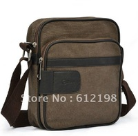 Canvas Mens Crossbody Bag Shoulder Messenger Bag for IPAD GE-003
