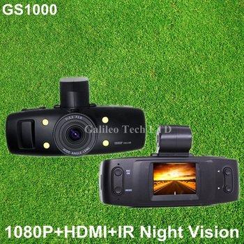 car dvr gs1000 vehicle camera recorder Novetak(not sunplus) 1920*1080P OV9712 HD Lens G-sensor GS1000 gs1000B