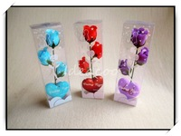 5sets/lot Creative Romantic Rose Flower Soap For Valentine's Mother's Day Christmas Decoration Wedding Gift(XZH-017)