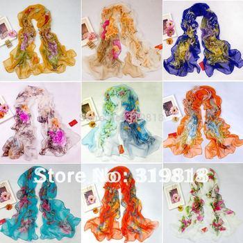 New Women's  georgette silk scarf shawl wrap beach silk scarf