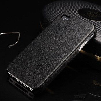 Perfume luxury original FEDDIST leather back case for Iphone 4s hard cover