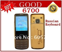 New Q670 6700 Unlocked Cell Phone Dual SIM With Russian Keyboard ,Free shipping