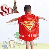 70*60CM Custom Children Superman Cape  for Children for Christmas Halloween Holiday Birthday Party