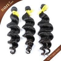 Rosa loose wave Hair 3bundles/lot 12-30inches,Remy Peruvian Virgin Hair Extensions,Grade 6A 100% Human hair weave,Free shipping