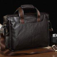 Luxury Brand Designer First layer of Cowhide men bag  fashion genuine leather handbags.best Business briefcase for Gentlemen