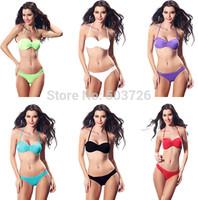 Free Shipping Hot Sale Sexy Swimwear Women Push up Bikini Set Sexy Swimsuit Lady Beach Suit