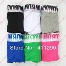 Free shipping 6pcs/lot fashion sexy men's underwear cotton Underwear mens Boxer Shorts more colors mix order(China (Mainland))