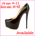 Free Shipping Big Size 4~11 2013 New Women's Fashion Sexy Red Bottom Platform 14cm Stiletto High Heels Shoes Party Pumps(China (Mainland))