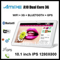 wholesale Ampe A10 Dual Core 3G Tablet PC Phone call GPS 10.1&quot; IPS Capacitive Bluetooth