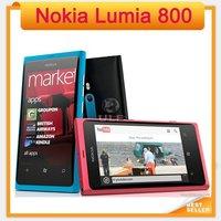 Unlocked Original Lumia 800 Nokia Windows Mobile Phone 16GB 8MP with Wifi GPS Bluetooth 3G Smart Phone