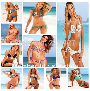 Hot Sale Sexy Women Swimwear Underwire Cups Push-up Padding Bikini Set Sexy Swimsuit High Fashion Bathing Suit