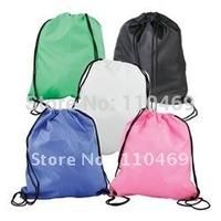 Custom drawstring backpack cotton drawstring bag light travel bag with logo printing