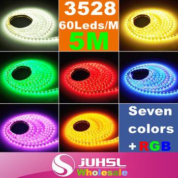 12V 5M SMD Flexible 3528 Led Strip 300leds,RGB led strip with IR controller,warm white/blue/red,LightsWith,LED light bar,lamp