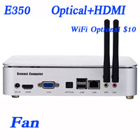 AMD E350 1.6Ghz, 2G RAM,80G HDD/16G SSD with  Home theater personal computer htpc thin clients 1080p HD mini pc IN-E350