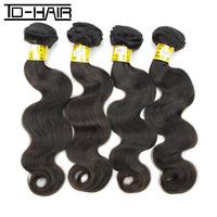 6A Remy Brazilian virgin hair body wave bundles TD hair products 4pcs lot 100% virgin unprocessed human hair weave Color 1B