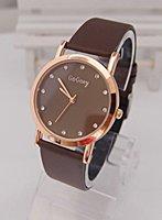 Holiday sale 4 colors Gogoey high quality crystal leather strap watch Women men fashion dress quartz wrist watch GO021