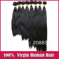 Mix Length Straight Peruvian Virgin Hair Bundles 3Pcs Lot  5a Unprocessed Virgin  Human Hair Extensions Color#1B free shipping