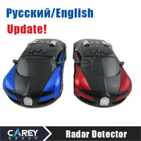 HK post! Auto Radar Laser detector Russian/English warning vehicle speed control detector Radar detector