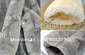 Hot Sale Korea Fashion Faux Fur Coat Rabbit Hair Women's Warm Short Coat Jacket Fluffy Outwear Belted Black, Gray, Apricot 30