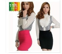 Free shipping 2013 new arrival  11 colors can be choosen, candy colors mini fashion classic slim draped women's A-line skirt,