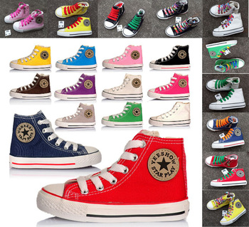2014 New EURO size 23-35 children shoes kids sports sneakers for boys and girls canvas shoes 121 dianfshike good