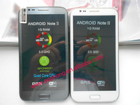 galaxy note 2 dual core smartphone 5.5''(960*540) MTK 6577 GPS 3G 1GB/4GB android 4.1.1 8mp cell phone