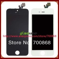 10PCS/LOT For iPhone 5 5G LCD with touch screen digitizer Assembly White or Black Free shipping EMS DHL 100% Guarantee Original