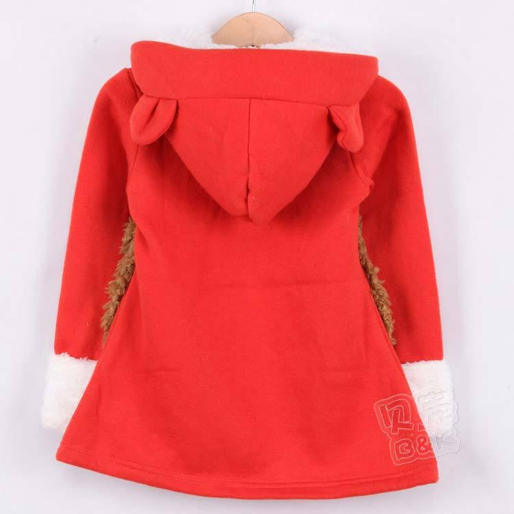 Girls dresses clothing kids hoody for winter children s wear qz0466